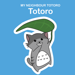 Ghibli Cats Stickers Totoro