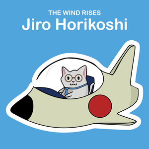 Ghibli Cats Stickers Jiro Horikoshi