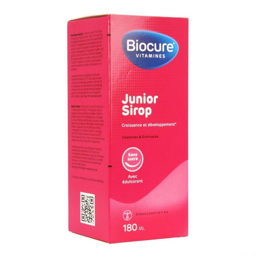 Biocure Junior Sirop Sans Sucre 180ml