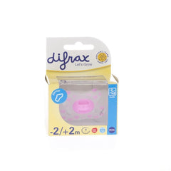 Difrax Sucette Newborn Dental Sil Girl -2/2m 1 796