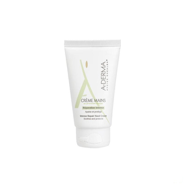 Aderma Creme Mains Lait Avoine 50Ml