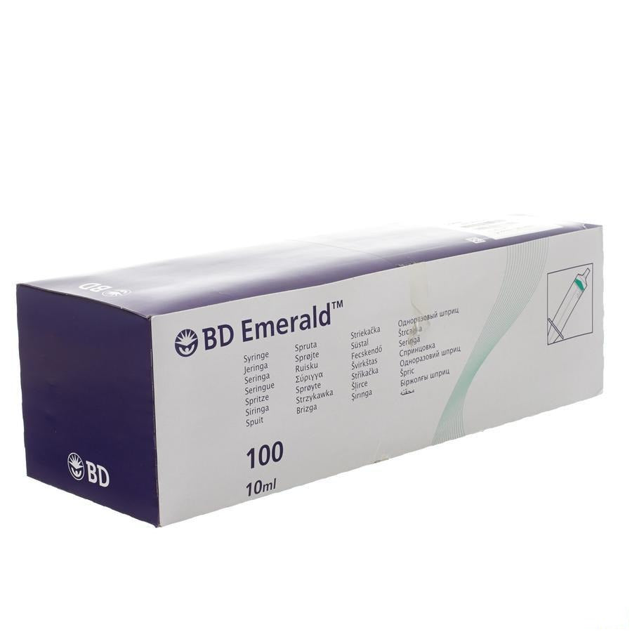 Bd Emerald Seringue 10ml Luer Slip 100 307736