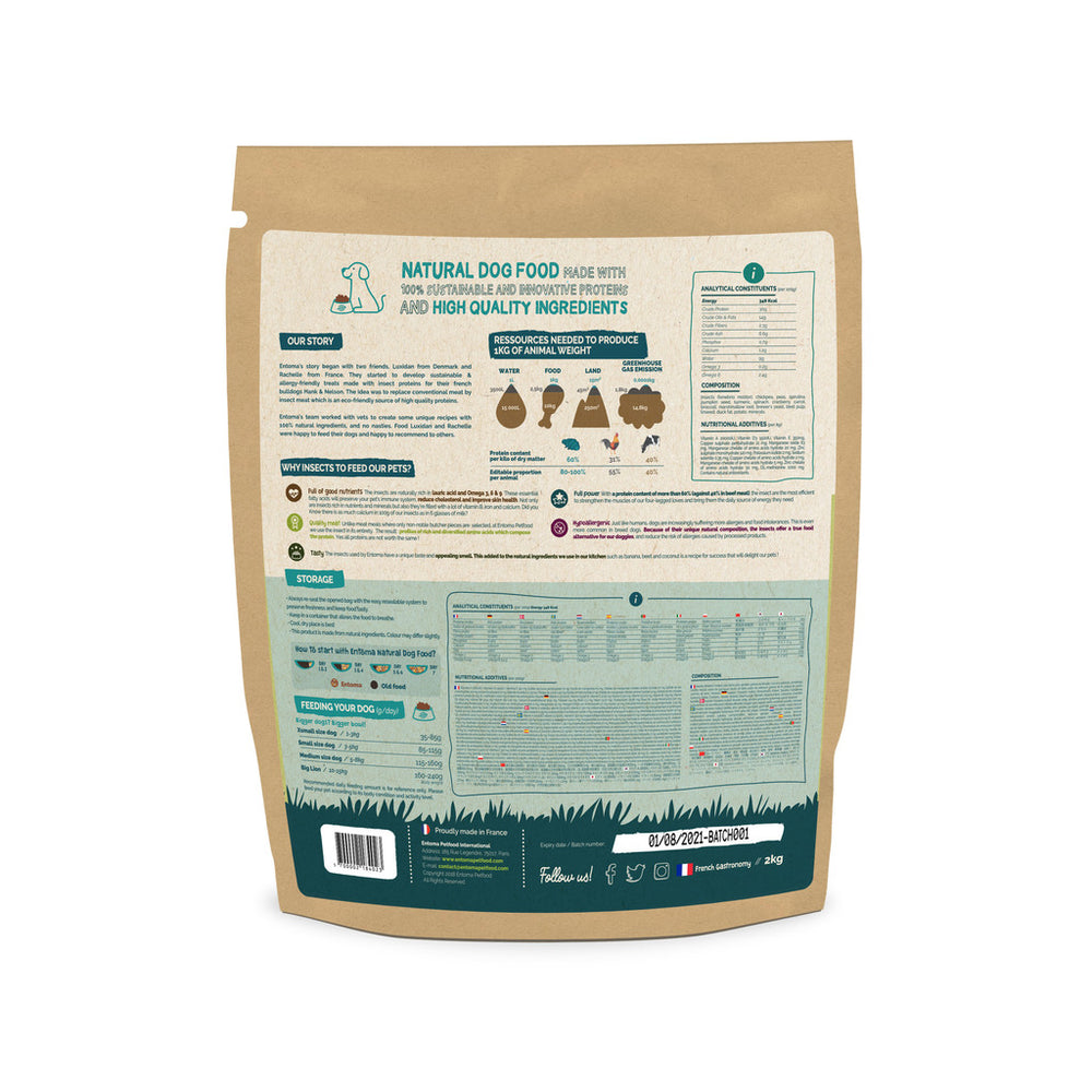 PRE-ORDER Natural & Sustainable food for urban dogs