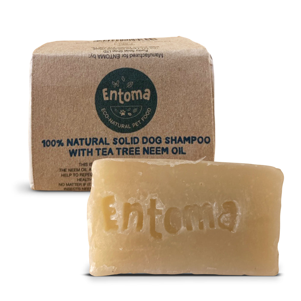 100% Natural solid shampoo for dogs with tea tree & neem oil