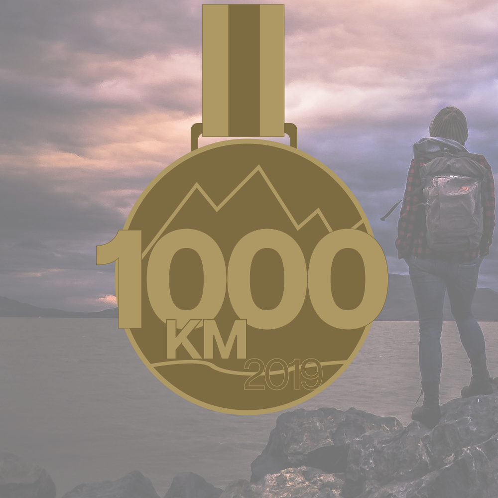 1000 Km's in 2019 Virtual Challenge