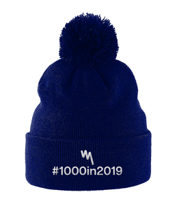 Your Mile #1000in2019 Pom Pom Hat