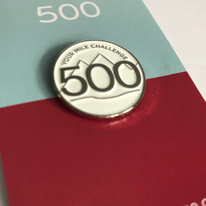 500 Pin Badge