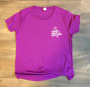 Your Mile Challenge Magenta T Shirt