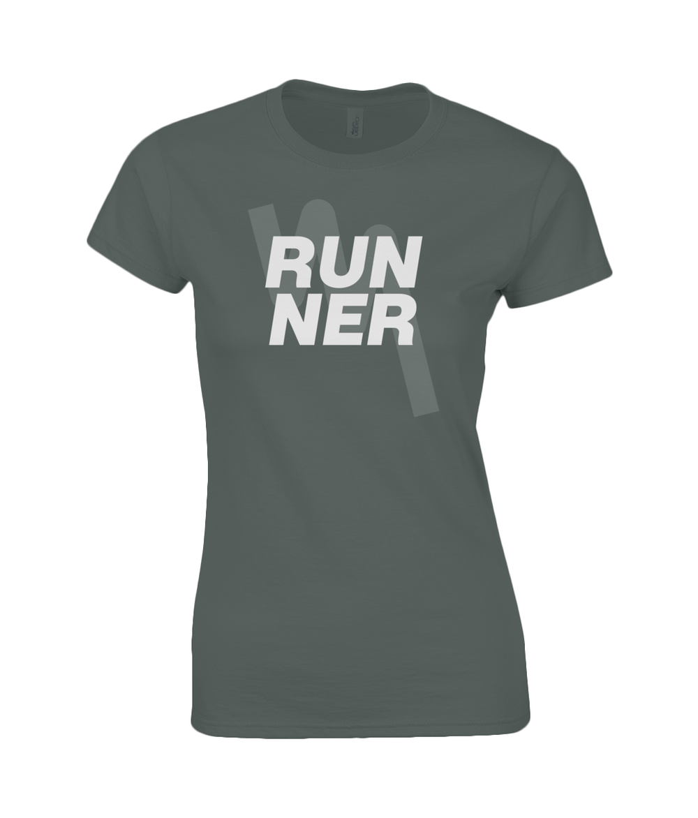 Ladies Fitted RUNNER T-Shirt - Dark Heather