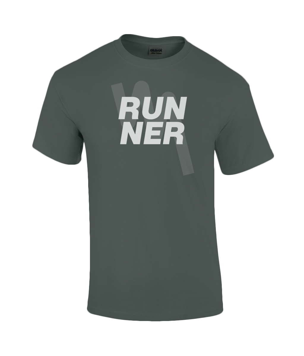 Mens RUNNER T-Shirt - Dark Heather