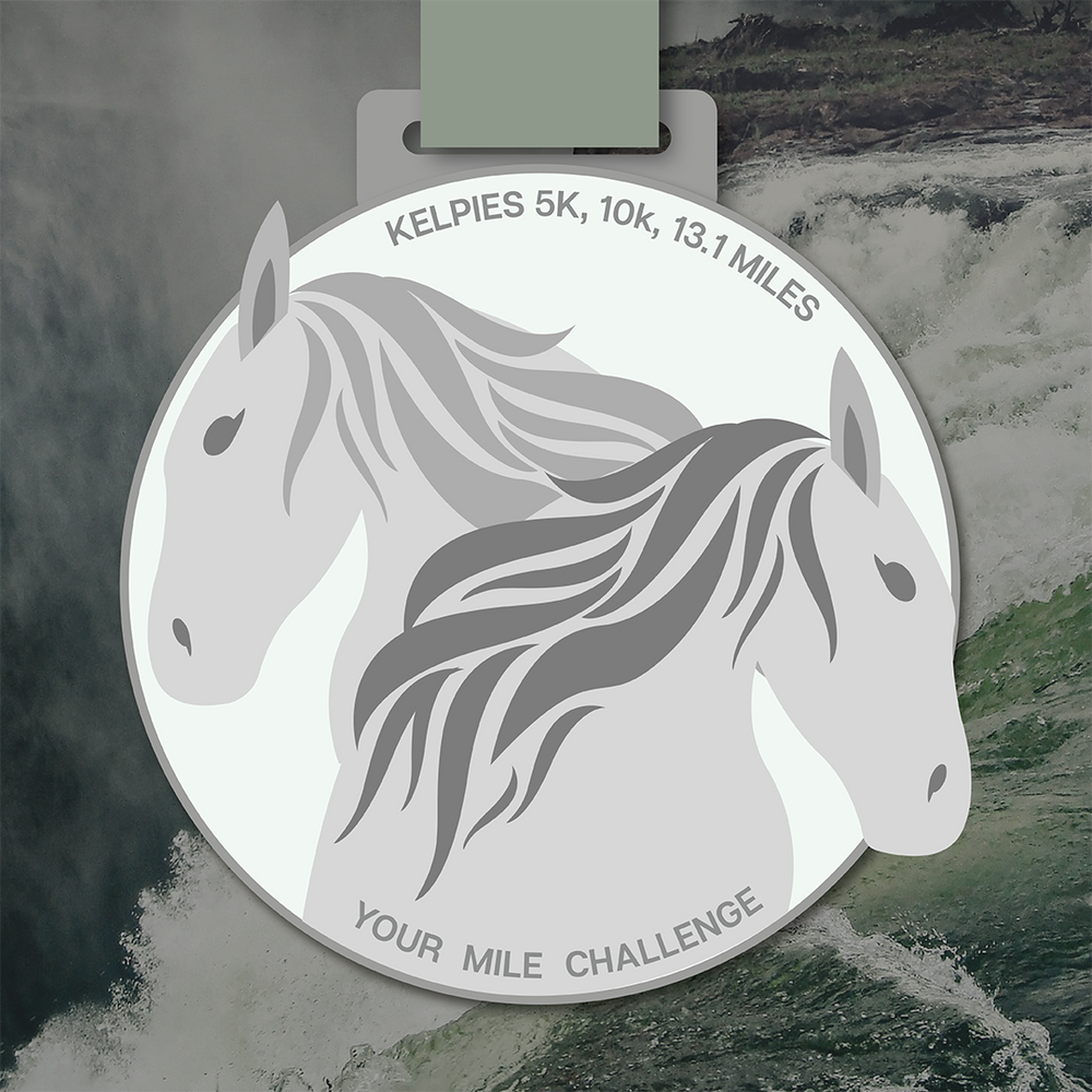 Kelpies medal challenge from Your Mile Challenge