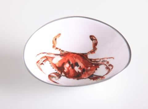 Small Oval Bowl Crab red Lobster gallery Sheringham