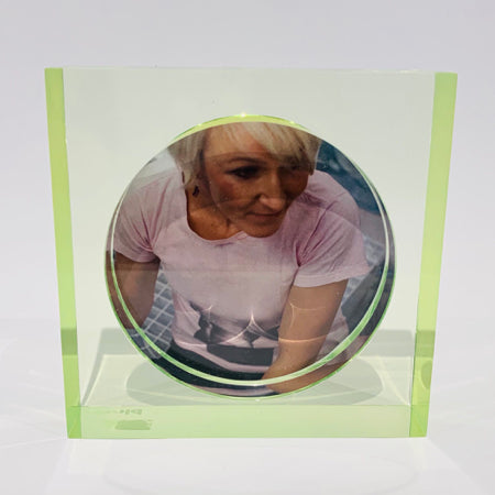 Contemporary Double Sided Photo Frame | Green; Blue; Pink