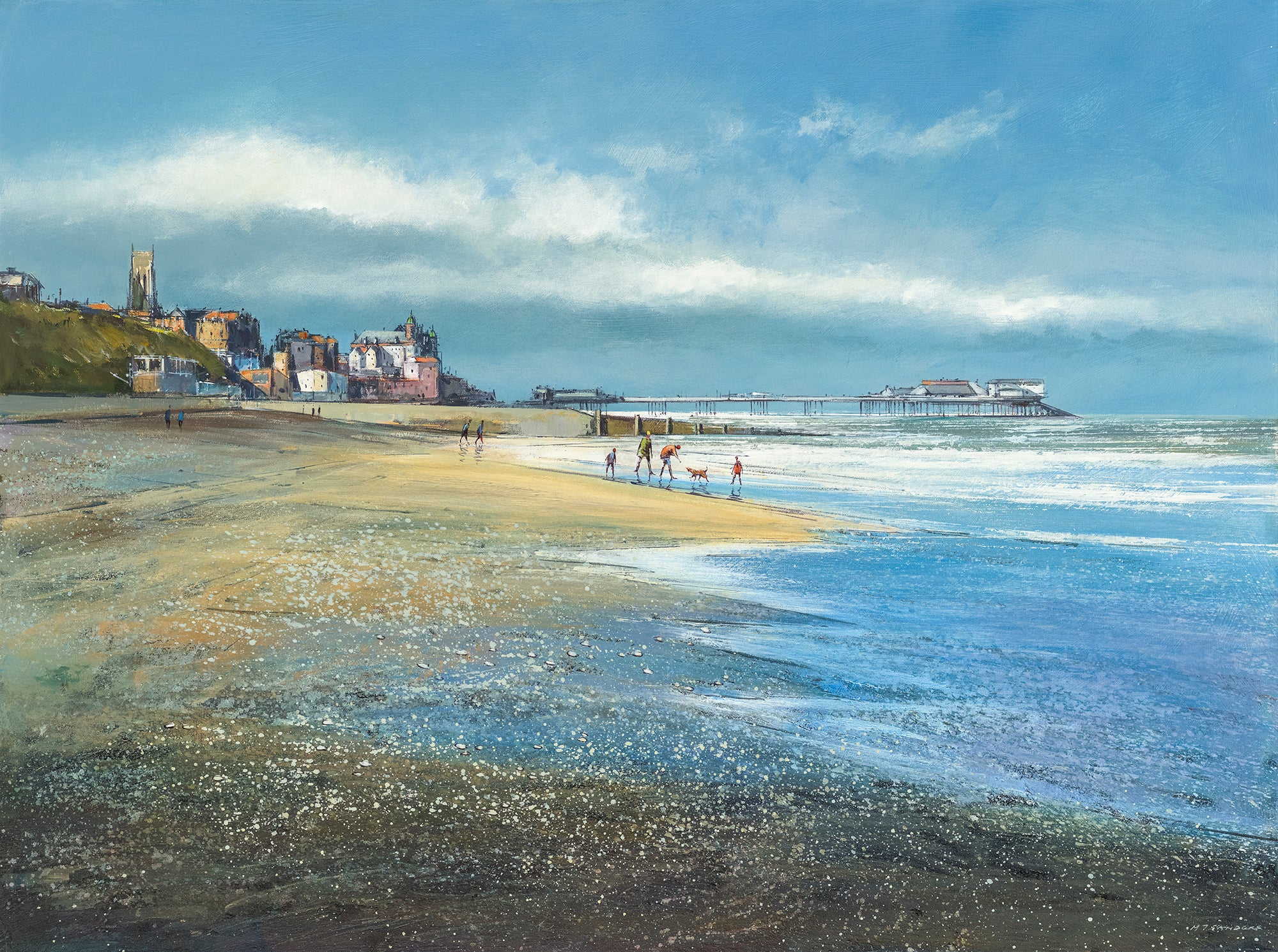 Michael Sanders | A Day at the Beach, Cromer | Limited Edition Print | Free Shipping