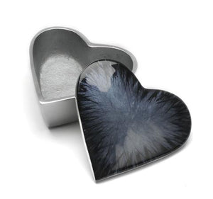 Brushed Black Heart Box