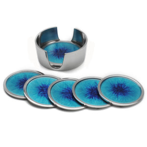 Brushed Blue Coaster Set