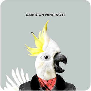 Carry on Winging It | Drinks Coaster