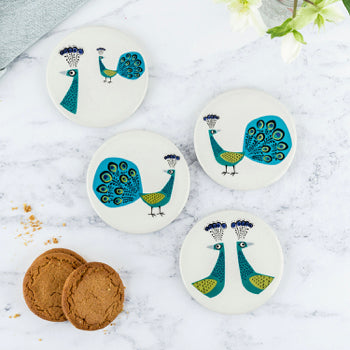 Peacock Coaster Set Red Lobster Gallery