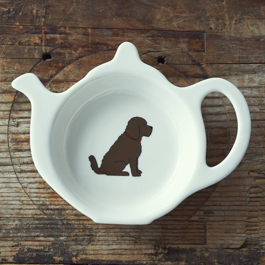 Cockapoo Dog Teabag Dish