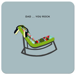 Dad...You rock| Drinks Coaster