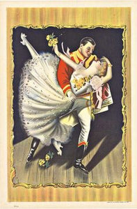 Dancing Couple c1900s Original Vintage Poster