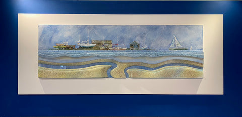 Dark Blue Original Landscape - CLICK AND COLLECT ONLY