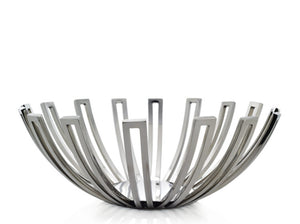Stainless Steel Dual Bowl Medium