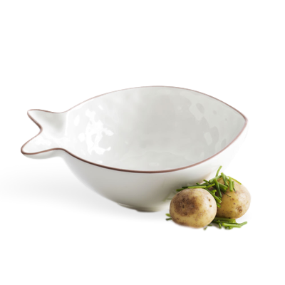 SAGAFORM FISH SERVING BOWL SMALL WHITE