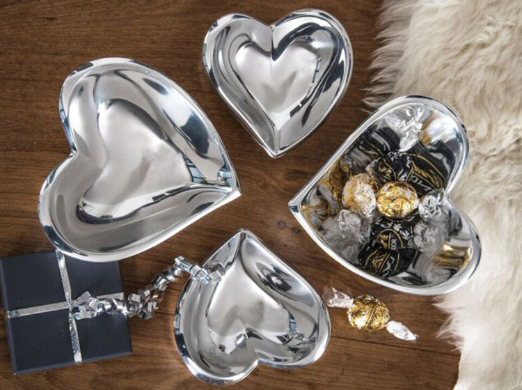 Silver Heart Bowl Small