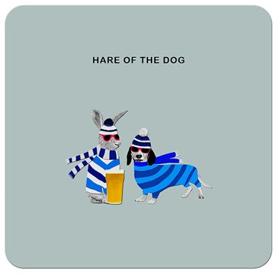 Hare of the Dog | Drinks Coaster