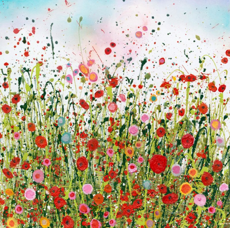 Poppies Dance | Framed Limited Edition Print by Yvonne Coomber | COLLECT ONLY