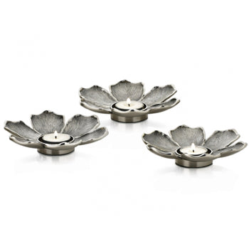 Silver Flower Tea Light Holders 3 Red Lobster Gallery