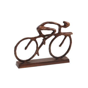 Solo Cyclist Sculpture Bronze Finish Red Lobster Gallery