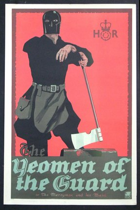 The Yeomen of the Guard or The Merryman and His Maid 1910-1920 Original Vintage Poster