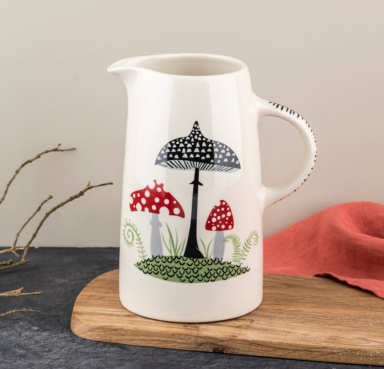 Toadstool Tall Jug