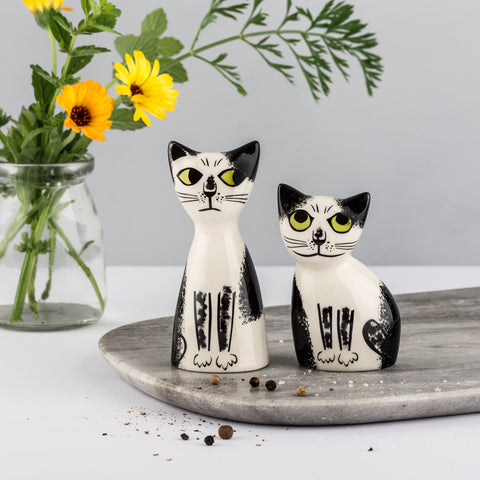 Black & White Cat Salt & Pepper