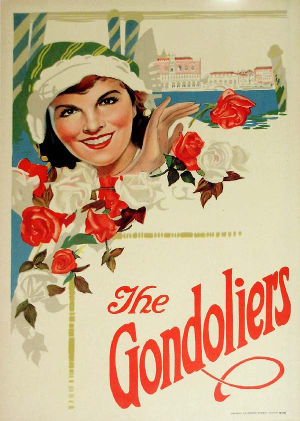 The Gondoliers / Casilda 1910-1920 Original Vintage Poster