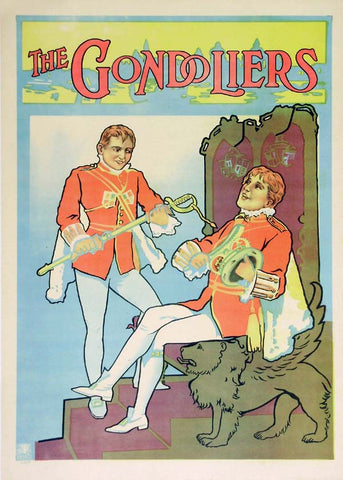 The Gondoliers / Marco and Giuseppe 1910-1920 Original Vintage Poster