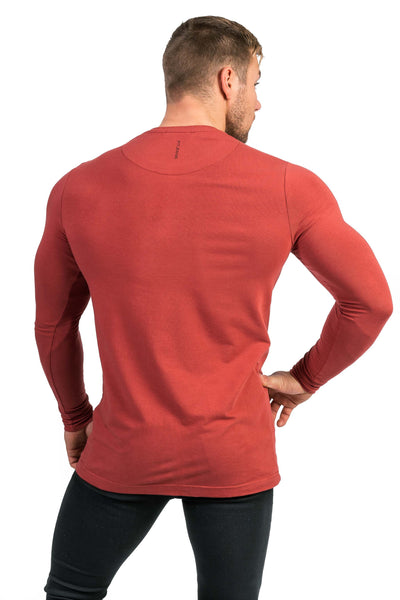 Mens Long Sleeve T-Shirt - Pastel Port