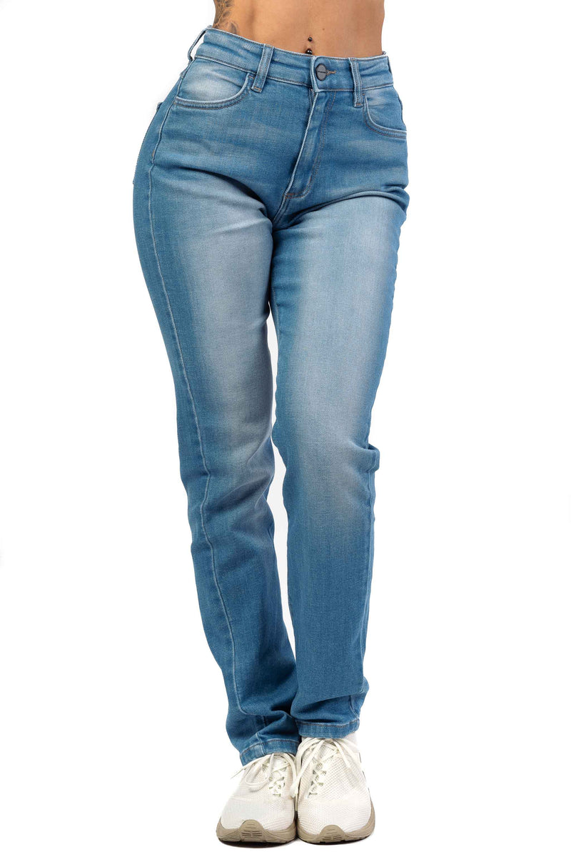Womens High Waisted Mom Fitjeans - Arctic Light Blue
