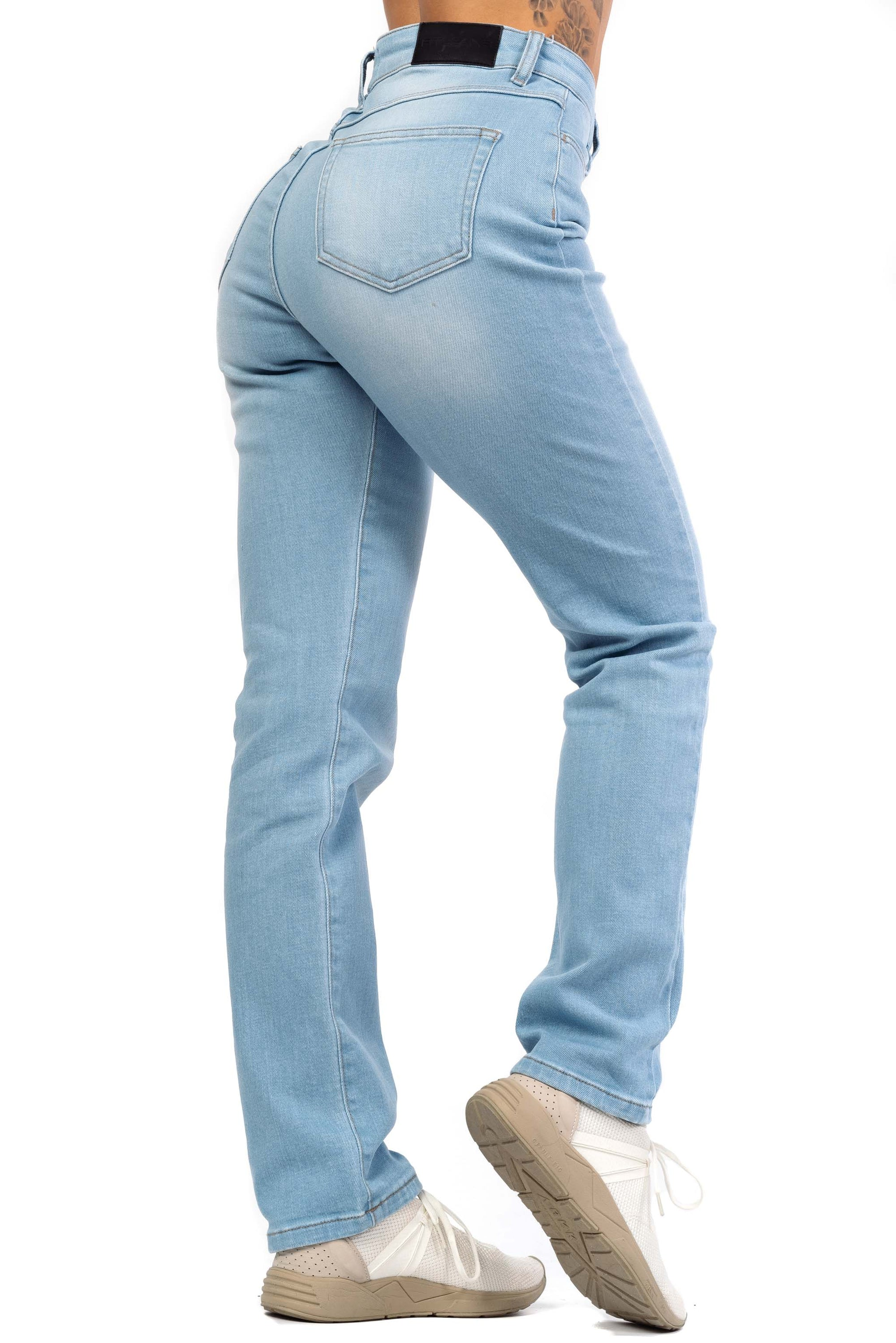 Womens High Waisted Mom Fitjeans - Vintage Blue