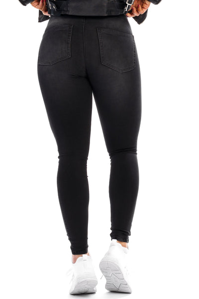 Womens 360 Mid Waisted Fitjeans - Grey Shade