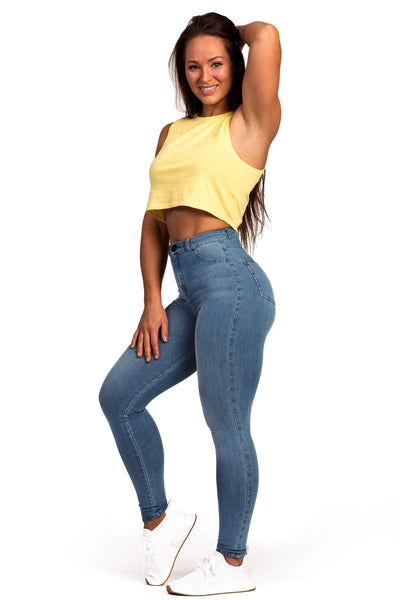 7dbc663edbf92 Womens Cropped Tank Top - Aspen Yellow - Fitjeans Worldwide Store