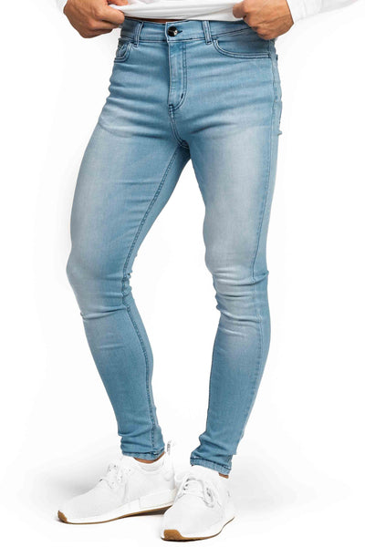 Mens Regular Fitjeans - Bleach Blue