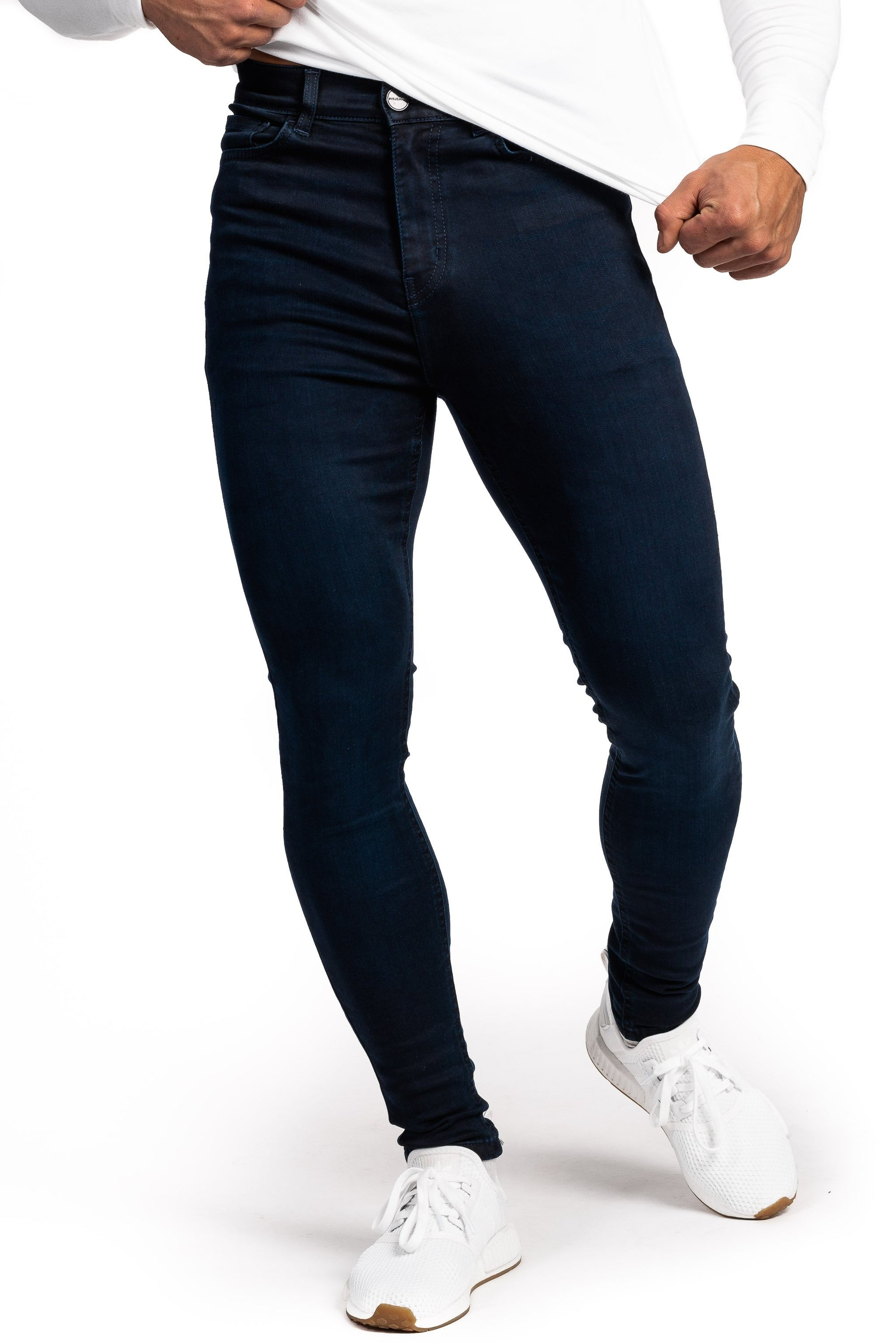 Mens Regular Fitjeans - Black Blue