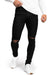 Mens Regular Ripped Fitjeans- Black