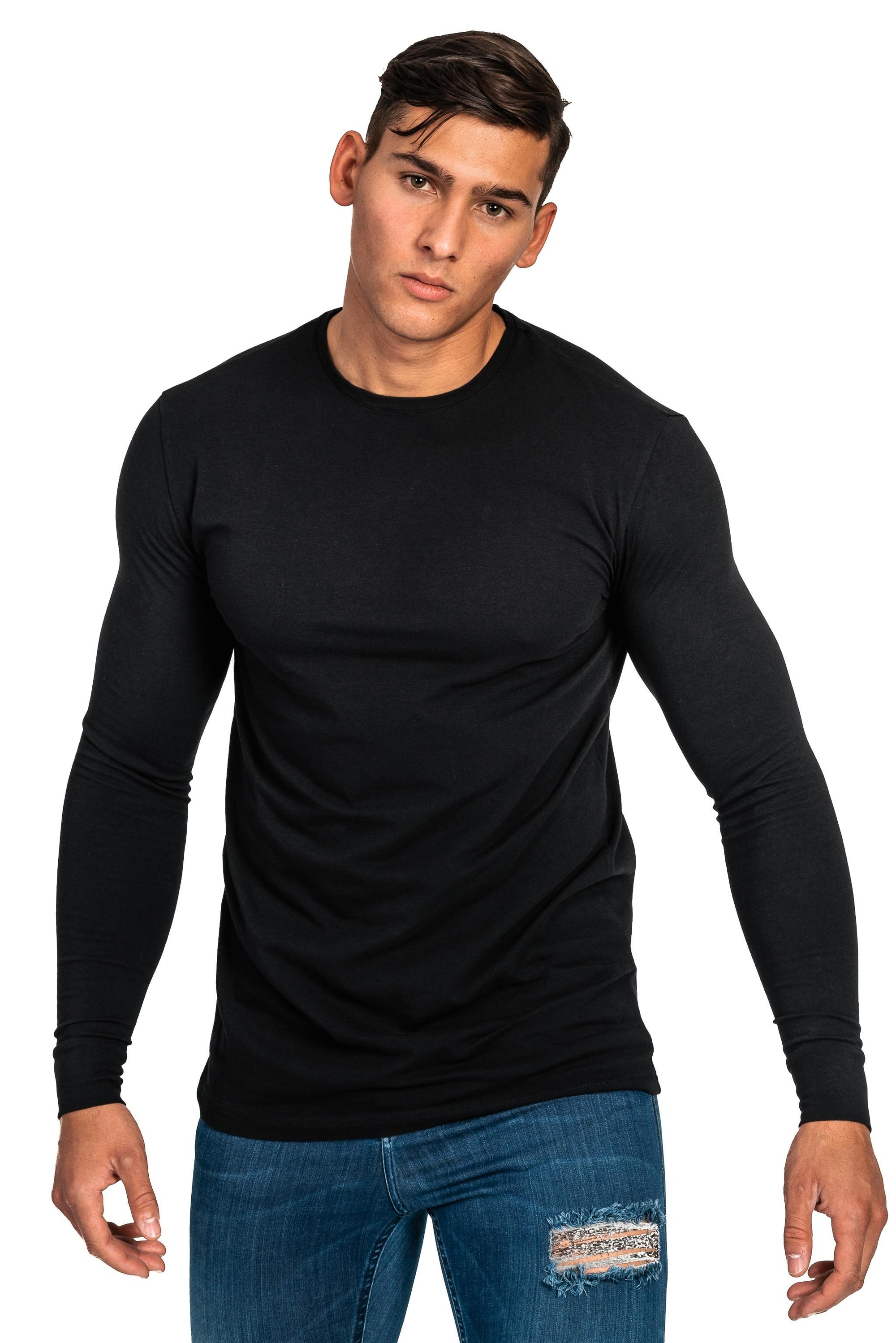 Mens Long Sleeve T Shirt - Black
