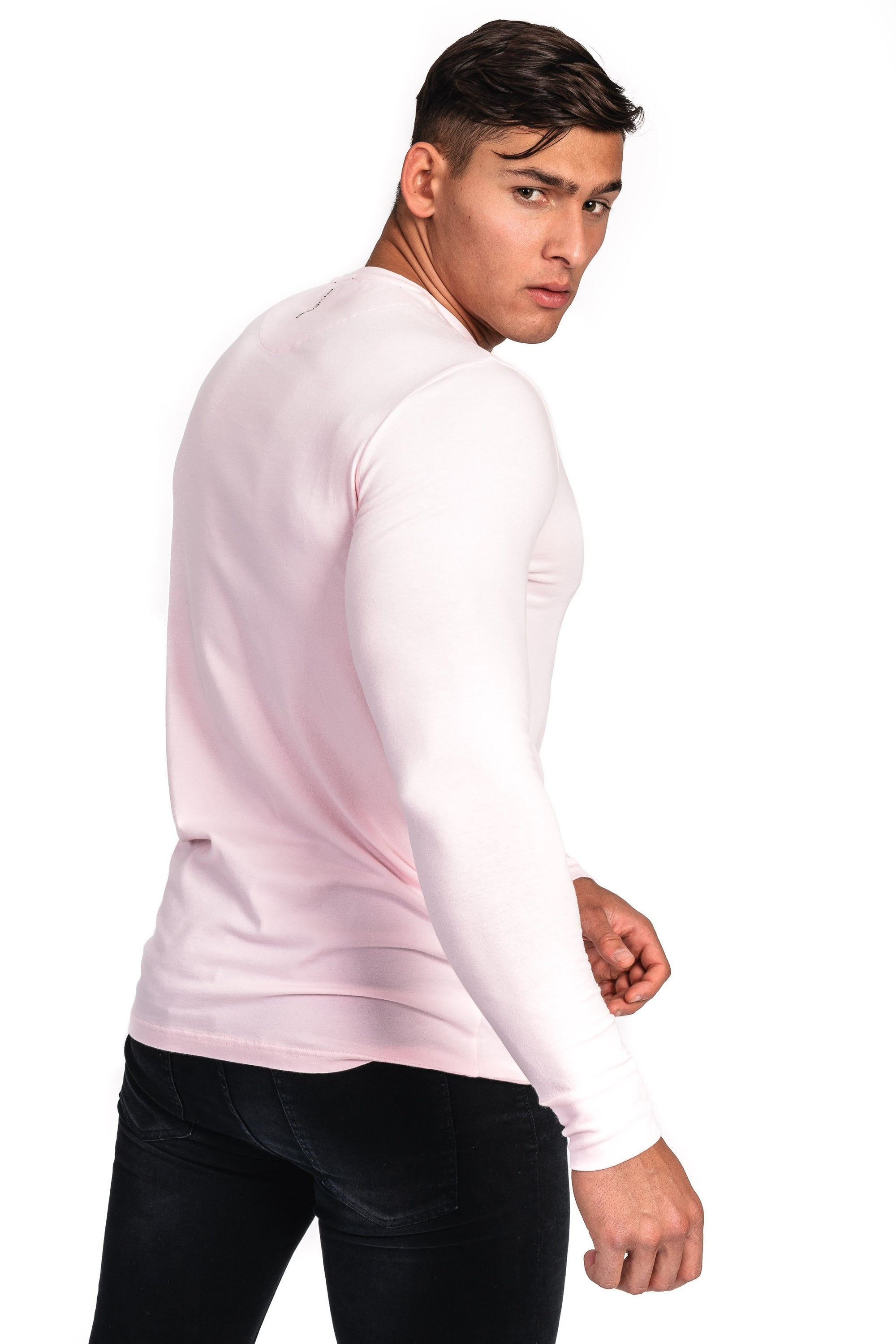 3b6dbd27 Mens Long Sleeve T Shirt - Vintage Pink - Fitjeans Worldwide