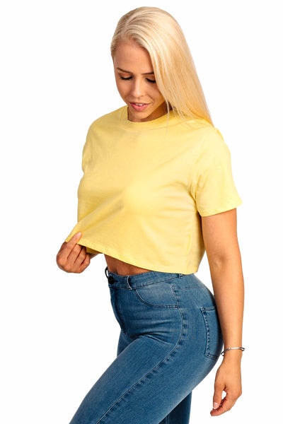 db6e2f25b5108 Womens Cropped T-Shirt - Aspen Yellow - Fitjeans Worldwide Store