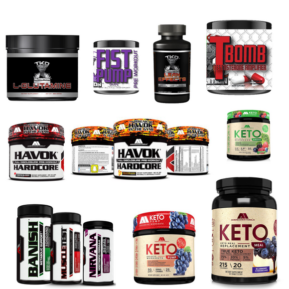 big tex distributions llc. bigtexdrive.com supplements section with tko nutrition glutamine fist pump t bomb test boosting weight loss vitamins havok hardcore pre work out keto protein meal replacement shake shakes fat burners burning lose size feel great